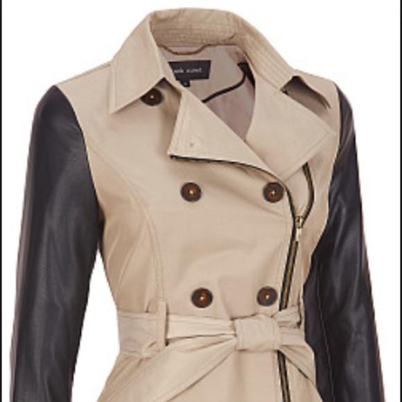 great discount sale 100% satisfaction guarantee wide varieties Black Rivet Fabric Trench Coat w/ Peplum Waist